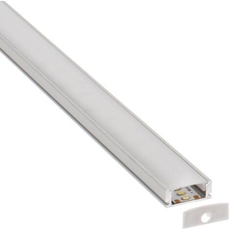 KIT - Perfil aluminio LOX para tiras LED, 2 metros