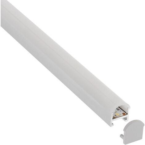 KIT - Perfil aluminio SUND para tiras LED, 2 metros