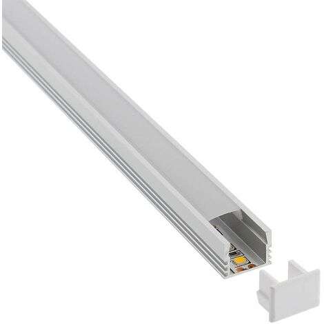 KIT - Perfil CAMBEL para tiras LED, 2 metros