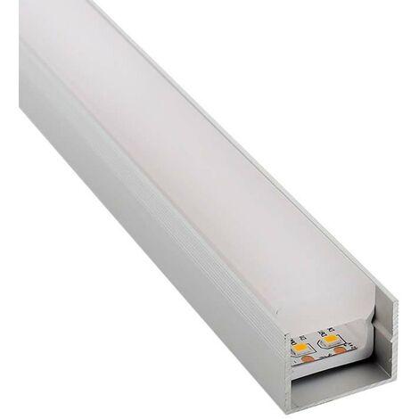 KIT - Perfil PC FOOT para tiras LED, 2 metros