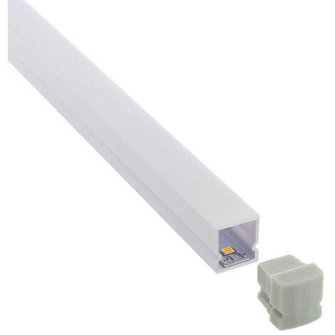 KIT - Perfil plástico CUB IP68 para tiras LED, 2 metros