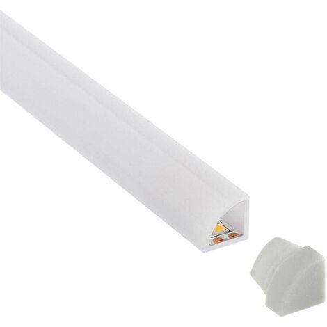 KIT - Perfil plástico ROD IP68 para tiras LED, 2 metros