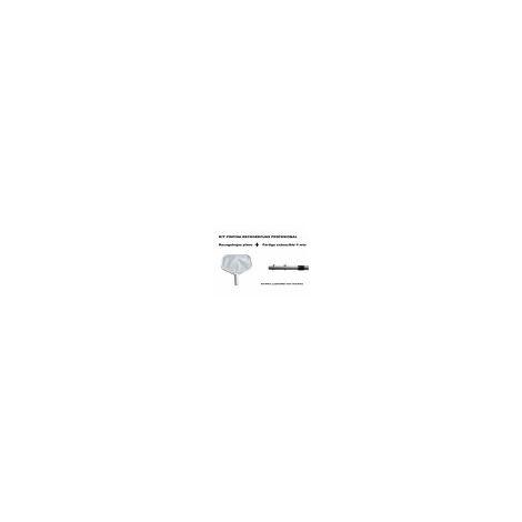 Kit Piscina recogehojas plano profesional + pértiga extensible de aluminio 4 mts (tornillos y palomillas inox incluidos)