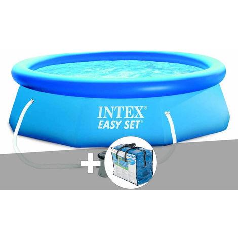Kit piscine autoportée Easy Set 3,05 x 0,76 m + bâche à bulles - Intex