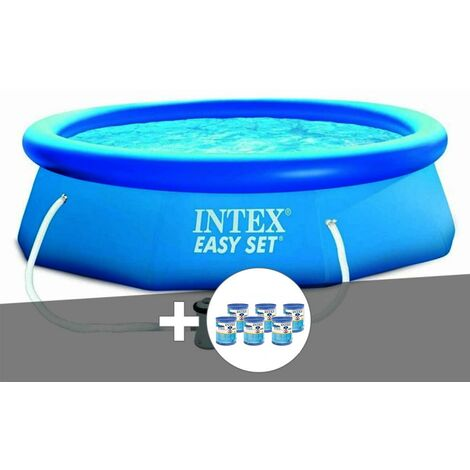 Kit piscine autoportée Easy Set 3,05 x 0,76 m + épurateur + 6 cartouches - Intex