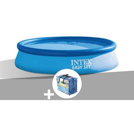 Kit piscine autoportée Easy Set 3,05 x 0,76 m + épurateur + bâche à bulles - Intex