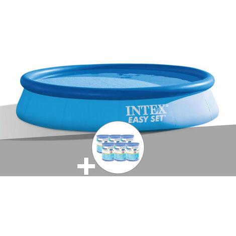 Kit piscine autoportée Easy Set 3,66 x 0,76 m + 6 cartouches - Intex