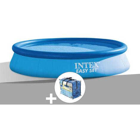 Kit piscine autoportée Easy Set 3,66 x 0,76 m + bâche à bulles - Intex