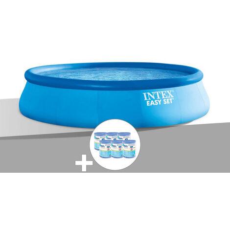 Kit piscine autoportée Easy Set 3,96 x 0,84 m + 6 cartouches - Intex