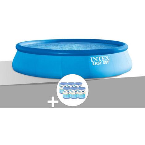 Kit piscine autoportée Easy Set 4,57 x 0,84 m + 6 cartouches - Intex