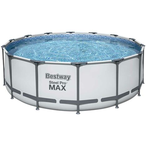 Kit piscine Bestway STEEL PRO MAX ronde Ø427x122cm filtration cartouche