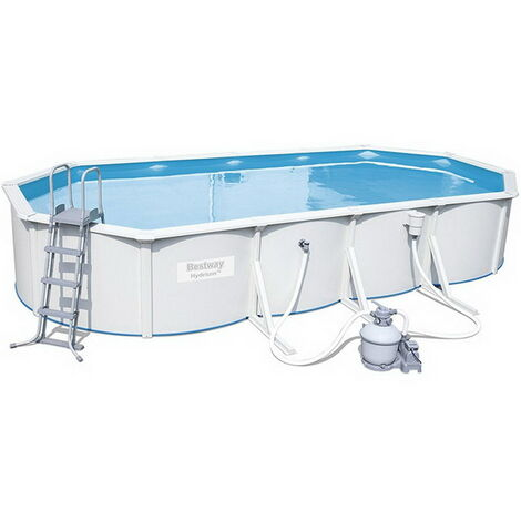 Kit piscine Bestway STEEL WALL POOL ovale 740 x 360 x 120 cm filtration à sable
