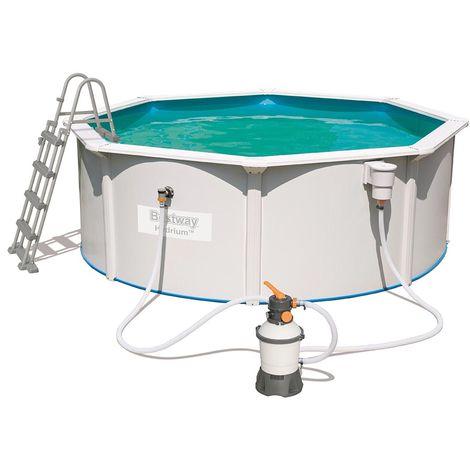 Kit piscine Bestway STEEL WALL POOL ronde Ø360 x 120cm filtration à sable