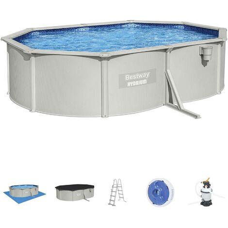 Kit piscine complet, grise - Torrens