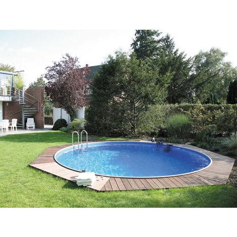 Kit piscine enterrée acier ronde 4.5 x 1.20m