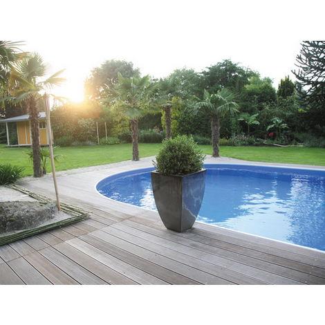 Kit piscine enterrée AQUALUX acier ovale 5.25x3.20x1.50m