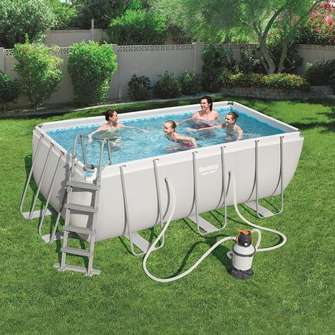 "KIT Piscine ""Steel Frame"" 412 x 201 x 122cm + filtre à sable Bestway"