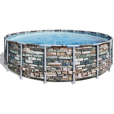 Kit piscine tubulaire Bestway POWER STEEL ronde Ø548x132cm à cartouche