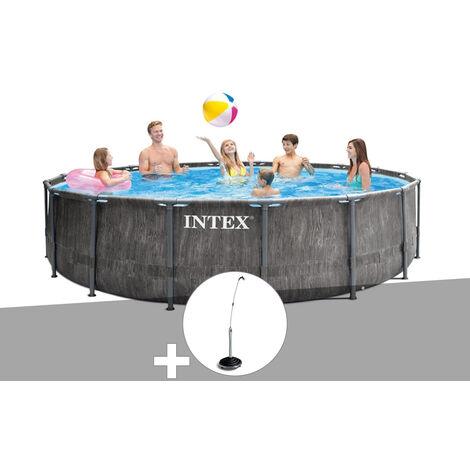 Kit piscine tubulaire Intex Baltik ronde 4,57 x 1,22 m + Douche solaire