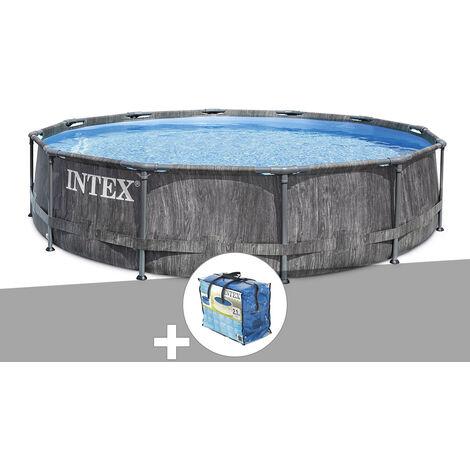 Kit piscine tubulaire Intex Baltik ronde 5,49 x 1,22 m + Bâche à bulles