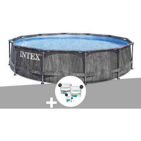 Kit piscine tubulaire Intex Baltik ronde 5,49 x 1,22 m + Kit de traitement au chlore