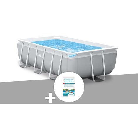 Kit piscine tubulaire Intex Prism Frame rectangulaire 3,00 x 1,75 x 0,80 m + Kit de traitement au chlore