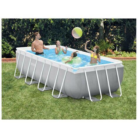 Kit piscine tubulaire Intex Prism Frame rectangulaire 4,00 x 2,00 x 1,00 m + Bâche à bulles