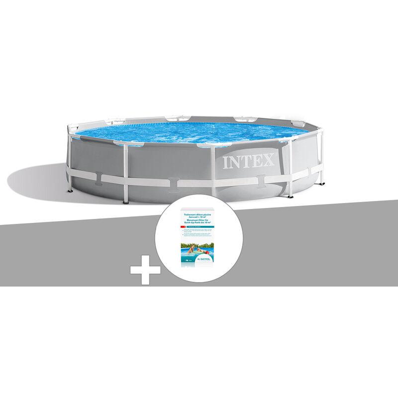 Kit piscine tubulaire Prism Frame ronde 3,66 x 0,76 m + Kit de traitement au chlore - Intex