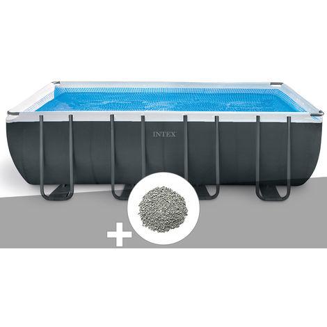 Kit piscine tubulaire Intex Ultra XTR Frame rectangulaire 5,49 x 2,74 x 1,32 m + 10 kg de zéolite
