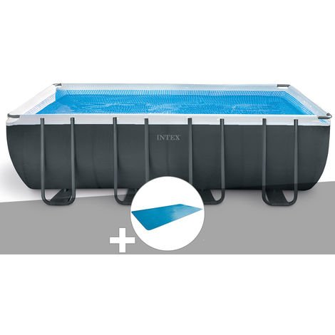 Kit piscine tubulaire Intex Ultra XTR Frame rectangulaire 5,49 x 2,74 x 1,32 m + Bâche à bulles