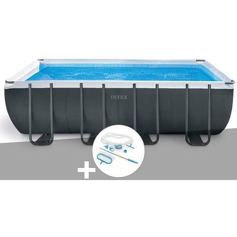 Kit piscine tubulaire Intex Ultra XTR Frame rectangulaire 5,49 x 2,74 x 1,32 m + Kit d'entretien