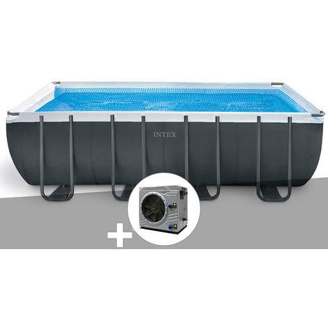 Kit piscine tubulaire Intex Ultra XTR Frame rectangulaire 5,49 x 2,74 x 1,32 m + Pompe à chaleur