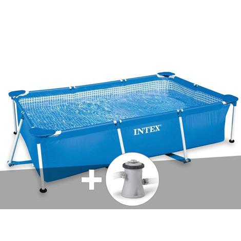 Kit piscine tubulaire rectangulaire 2,60 x 1,60 x 0,65 m + épurateur 1,25 m³/h - Intex