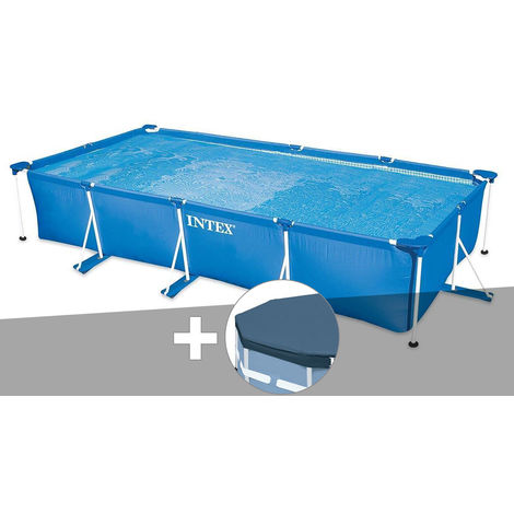 Kit piscine tubulaire rectangulaire 4,50 x 2,20 x 0,84 m + bâche de protection - Intex