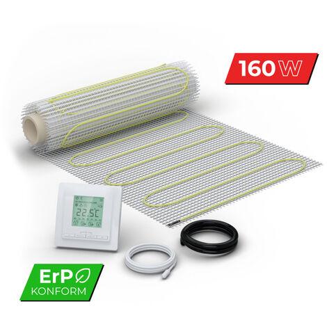 Kit Plancher chauffant électrique rayonnant pour carrelage 160 W/m² - avec Thermostat Digital
