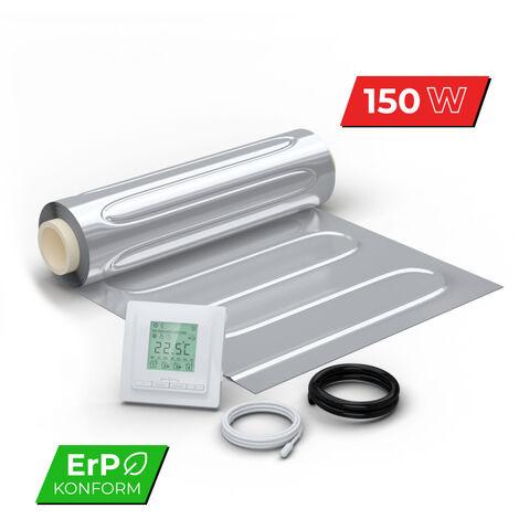 Kit Plancher rayonnant électrique pour sol flottant 150 W/m² - avec Thermostat digital