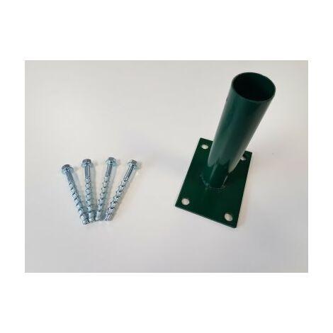 Kit Platine Portillon Grillagé Vert + Visserie