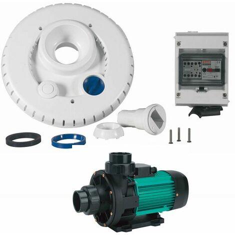 kit pompe 44m3/h + facade + coffret électrique pour nage à contre courant - ncr2 wiper3 300 mono - espa