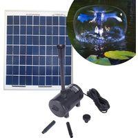 Kit pompe 980L/h avec panneau solaire 20W