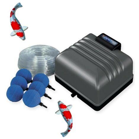 Kit Pompe à Air 3600 l/h Pour Bassins De Jardin Et Étangs de 5000 l environ