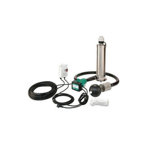 KIT Pompe puits Inox WILO Sub TWI 5 SE 306 mono Plug & Pump - 5 m3/h à 16 m/CE