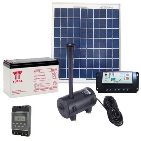 kit pompe solaire 470l h kit complet avec panneau. Black Bedroom Furniture Sets. Home Design Ideas