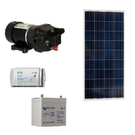 Kit pompe solaire FLOJET 19 l / min avec batterie