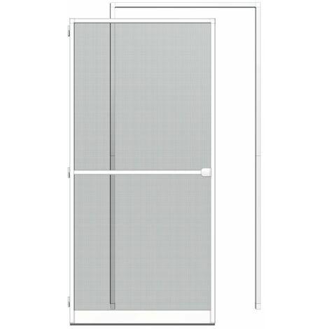 KIT porte-moustiquaire + cadre tendeur 125x245cm, blanc