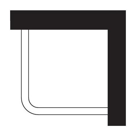 Kit porte-rideau d'angle en aluminium