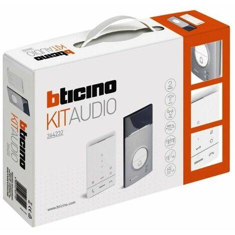 Kit portero electronico de superficie 2 hilos Bticino Linea 3000 y telefono CLASSE100 364232