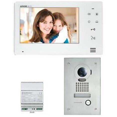 Kit portier Vidéo AIPHONE JOS1F - Ecran 7'' - Platine Encastrée - 130401