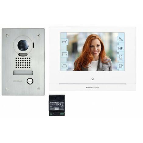 Kit portier Vidéo AIPHONE - Platine encastrée - module Wi-Fi intégré - JOS1FW 130414