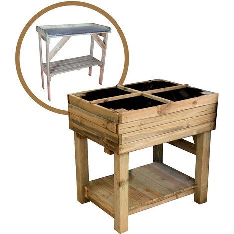 Kit potager sur pied + table de préparation Primevère