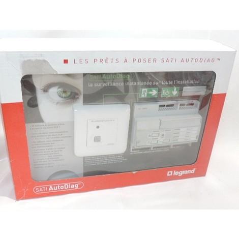 Kit pour alimentation et surveillance des BAES ECO1 et ECO2 sati autodiag PAP telecommande + afficheur LED LEGRAND 062500